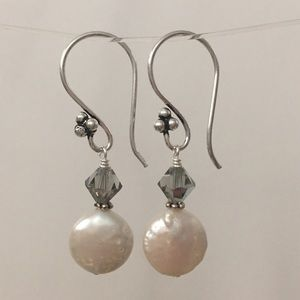 3 for $25 Handmade Coin Pearl Earrings